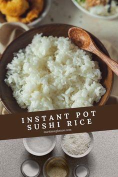 Sushi rice is incredibly easy and even cheaper to make at home - especially when the Instant Pot does all the hard work. Ready in 25 minutes! Side Dishes Easy, Main Dishes, Instant Pot Sushi Rice, Food Dishes, Dishes Recipes, Asian Recipes, Healthy Recipes, Great Appetizers, One Pot Meals