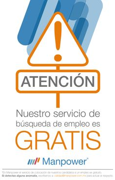Consulta nuestras vacantes. http://empleo.manpower.com.mx/