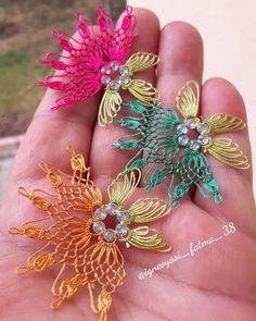 ok Sevece iniz 38 Kolay ne Oyas Modelleri Knitting Socks, Baby Knitting, Viking Tattoo Design, Sunflower Tattoo Design, Needle Lace, Pet Bowls, Ear Jewelry, Homemade Beauty Products, Foot Tattoos