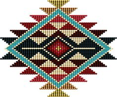 native american beadwork patters Native American Southwest-Style Rainbow Sunburst Poster by Ricky Barnes - Native American Patterns, Native American Design, Native Design, Native Beadwork, Native American Beadwork, Indian Beadwork, Bead Loom Patterns, Weaving Patterns, Jewelry Patterns