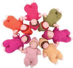 Palumba Toys & Games: Minature Soft Body Waldorf Baby Dolls, 5.5 inches: Palumba