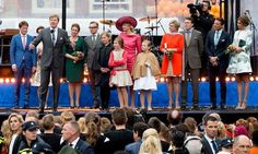 King Willem-Alexander, Queen Maxima and their daughters Princess Amalia, Princess Alexia and Princess Ariane, Prince Bernhard, Princess Annette, Prince Constantijn, Princess Laurentien, Prince Pieter-Christiaan, Princess Anita, Prince Maurits and Princess Marilene attends the celebrations of the King's Day (Koningsdag) in Dordrecht, The Netherlands on April 27, 2015.