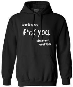 Dear Burpees, F*ck You - Everyone Funny male sweatshirt     Tag a friend who would love this!     FREE Shipping Worldwide     Buy one here---> http://www.cfitter.com/dear-burpees-fck-you-everyone-funny-male-harajuku-sweatshirt-2016-autumn-tracksuit-brand-clothing-fashion-men-hooded-hoodies/