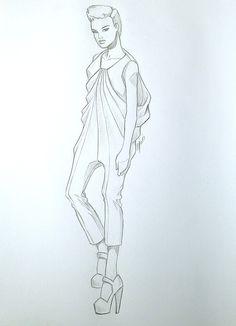 Dionisis Chalikias fashion drawing