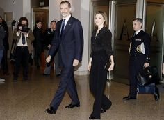 On March 8, 2017, King Felipe VI and Queen Letizia of Spain attend the annual tribute Concert for the Terrorism Victims at the National Auditorium in Madrid, Spain.