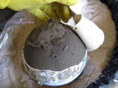 I want to do this then paint with glow in the dark paint. How to make hypertufa concrete balls