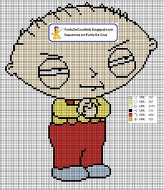9 Best Family Guy Cross Stitchperler Images Cross Stitch Patterns