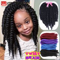 Havana Mambo Twist Braids 80gram 12inch Synthetic Crochet Braids Hair Extension 12pcs/Pack Black Brown Golden Blue Braiding Hair US $4.58 - 32.91