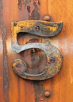 Photo about Grungy number five affixed to rusty industrial metal. Image of vintage, metal, fashioned - 12691665 Rust Never Sleeps, Rust In Peace, Peeling Paint, Rusty Metal, Alphabet And Numbers, Art Abstrait, Mellow Yellow, Rustic Charm, Wabi Sabi