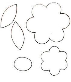 Patrones para hacer flores - Imagui Felt Flowers Patterns, Felt Patterns, Mosaic Patterns, Pattern Coloring Pages, Colouring Pages, Vinyl Crafts, Paper Crafts, Quiet Book Templates, Felt Roses