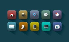 Square Icons - Web Design Hood
