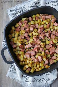 Kartoffel-Fleischkäse-Pfanne   Rezept   Kochen