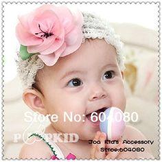 Fascinator Baby Peach Blossom Elastic Hairband 218a4da9077a