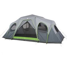 Ozark Trail 12-Person 3-Room XL Hybrid Instant Cabin Tent rooms divided with zippered dividers but top isn't