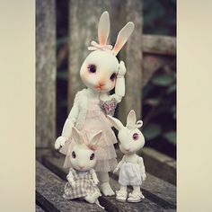 Doll meet with friends <3 by ♥ ribonita & chocolat ♥ - busy oh so busy!, via Flickr
