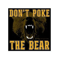 Don't Poke the Bear. but you started it lol Boston Sports, Boston Red Sox, Small Circle Of Friends, Dont Poke The Bear, Girl Cave, Man Cave, Boston Bruins Hockey, Bears Football, Chicago Bears