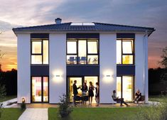Exklusive Villa 165 Stadtvilla Bauen Grundriss Haus Bungalow Hausbau Fertighaus