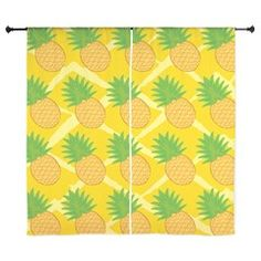 Pineapple cheery repeat pattern Curtains
