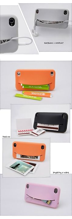 """Feed Me"" iPhone Case: This cute little phone case wants to eat all your cards and money!"