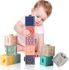 Baby Soft Toys Soft Building Blocks for Baby 3D Touch Hand Soft Balls Baby Grasp Toy Baby Toys 0 12 months Educational Bath Toys - A to Z for BABY Baby Building Blocks, Baby Blocks, Toddler Toys, Kids Toys, Baby Bath Toys, Newborn Toys, Activity Toys, Developmental Toys, Teething Toys