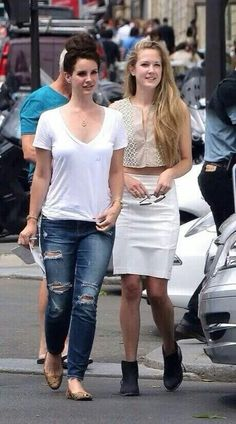 Lana Del Rey with her sister Chuck in Paris
