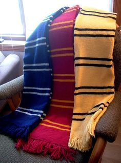 wikiHow to Make a Harry Potter Scarf -- via wikiHow.com Hufflepuff pride!