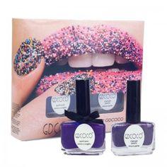 Gdcoco Caviar nail art Nail Polish Set DIY Small Beads Purple