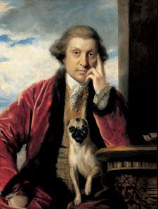 Reynold's painting of George Selwyn and his pug Raton.