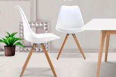 2 chaises Lolo<br>Blanc Lolo, Eames, Furniture, Home Decor, Chairs, White People, Decoration Home, Room Decor, Home Furnishings