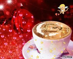 Beautiful Gif, Beautiful Roses, Christmas Landscape, Coffee Images, Good Morning Coffee, Gif Pictures, Coffee Love, Real Love, Good Morning Images