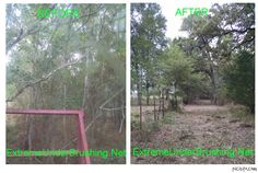 Fence Line Mulching / Clearing Houston, Texas @ Extreme Under Brushing, LLC    Hydro ax mulching or Under Brushing is the best thing to do when land clearing. There is nothing to haul away and no piles left on your property. We can hydro ax your land, and it will turn all trees up to 6inch trees in to mulch. We Service all of Houston and ALL surrounding areas. 832-692-2298