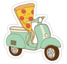 pizza delivery Stickers