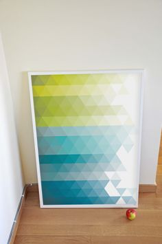 Fine Art Print Illustration - Poetic Geometry: Blues and Greens - 70x100 cm Size (Also in Custom Sizes). $149,00, via Etsy.