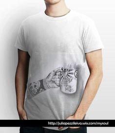 """Camiseta niRah """"Café con tattoo...Sabe mejor"""", Linea """"FreeStyle"""", abdomen."""