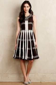 Pleated Plaid Dress - anthropologie.com  Love this dress! Style, fabric, color!
