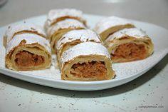 Strudel cu mere | Simplu Feminin Tacos, Deserts, Mexican, Ethnic Recipes, Food, Essen, Postres, Meals, Dessert