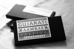 Chocolate bars typographic packaging