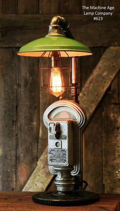 Steampunk Industrial Gear Parking Meter Desk Lamp, #623