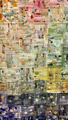 TOKYO International Great Quilt Festival 2020 Fabric, Needles, and, Thread Exhibition Fiber Art Quilts, Quilt Modernen, Circle Quilts, String Quilts, Log Cabin Quilts, Textiles, Quilt Festival, Contemporary Quilts, Scrappy Quilts
