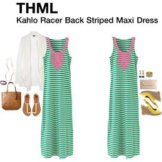 Kahlo Racer Back Striped Maxi Dress Love this dress but in a different color