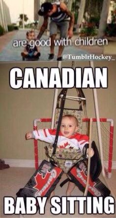 Hockey baby starting early - Hockey baby starting early Nothing like a hockey baby Funny Hockey Memes, Hockey Quotes, Hockey Puns, Canadian Memes, Canadian Things, Canadian Humour, Hockey Baby, Hockey Goalie, Hockey Girls