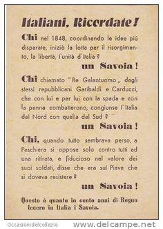 VOLANTINO PARTITO MONARCHICO MERITI DEI SAVOIA ELEZIONI 1948
