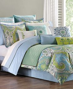 Echo Bedding, Sardinia Comforter and Duvet Cover Sets - Bedding Collections - Bed & Bath - Macy's- this is pretty