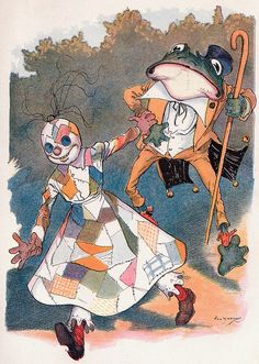Frogman and Patchwork Girl Btwn Pg 224 and 225 by perpetualplum, via Flickr