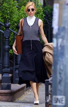 Sienna Miller flaunts her street style in chic ensemble as she steps out to run errands | Daily Mail Online