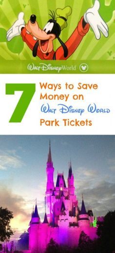 Creative ways to save money on Disney World tickets - don't pay too much for admission to the theme parks!