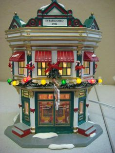 Department 56 Christmas Holiday Snow Village Sweet Shop Decoration