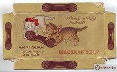 """""""Cat Tongue"""" chocolate bars from the I loved these things! Retro Kids, Hungary, Childhood Memories, Old Things, Blog, Vintage, Chocolate Bars, Google, Thoughts"""
