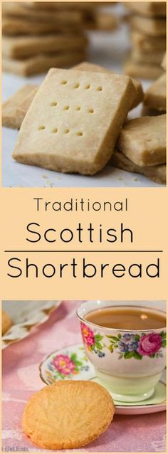 Classic shortbread cookies are one of the most delicious holiday cookie recipes to make. Buttery and soft, Scottish shortbread will melt in your mouth! Scottish Recipes, Irish Recipes, Sweet Recipes, British Food Recipes, Scottish Desserts, English Recipes, Spanish Recipes, Top Recipes, Italian Recipes
