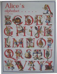 Alice in wonderland alphabet